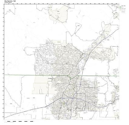 Rio Rancho Zip Code Map.Amazon Com Rio Rancho Nm Zip Code Map Not Laminated Home Kitchen
