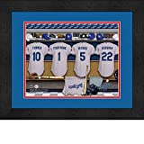 Los Angeles Dodgers Personalized MLB Baseball Locker Room Jersey Framed Print 14x18 Inches