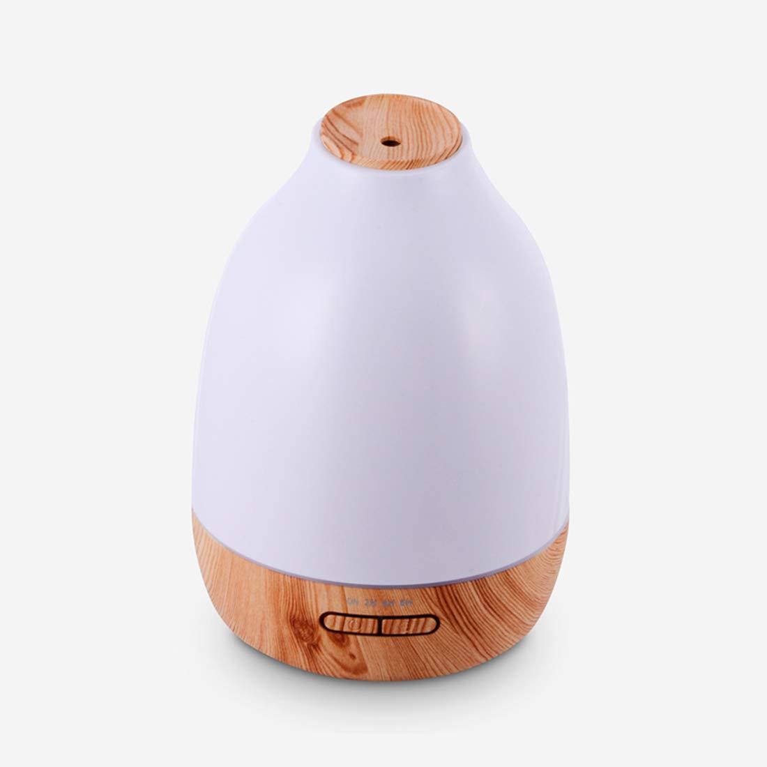 Xasclnis 500ml Ceram Luftbefeuchter Ultraschall Aroma ätherisches Öl Diffusor für Office Home (Color : Wood Grain)