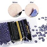 Hair Removal Wax Bean, LuckyFine Depilatory Pellet Waxing Lavender Tea Tree Full-Body Bikini For Depilatory on All kinds of Skin Types 100g Purple