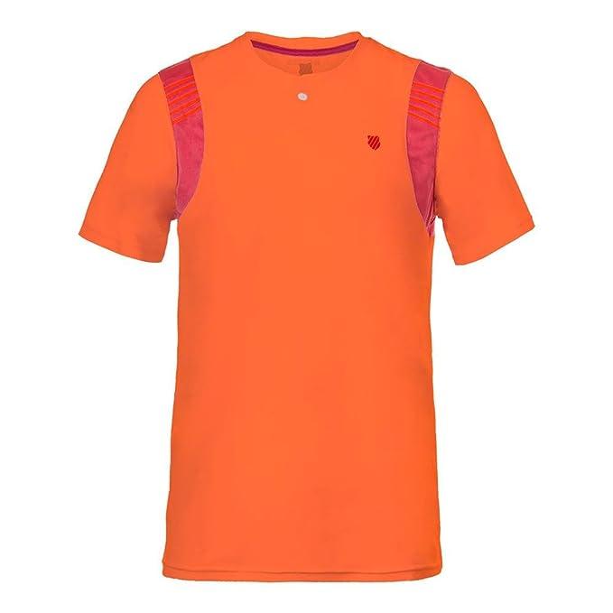 K-SWISS - Camiseta de Deporte - Neon Blaze/Rose: Amazon.es: Ropa y accesorios