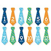 Tiny Ideas Baby First Year Belly Tie Stickers, Multi