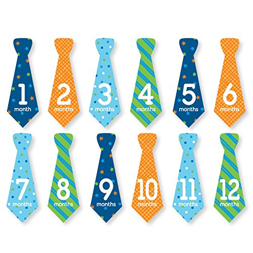 (Tiny Ideas Baby First Year Belly Tie Stickers, Multi)