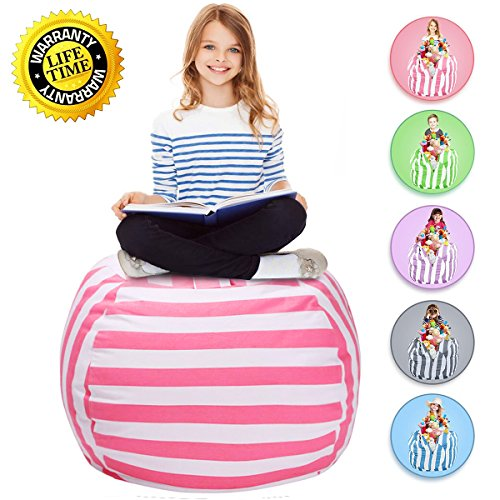 WEKAPO Stuffed Animal Storage Bean Bag Chair | 38