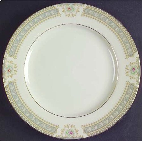 Mikasa Richelieu Ivory China Gray Floral Gold Trim (Salad plates, Set of 4)