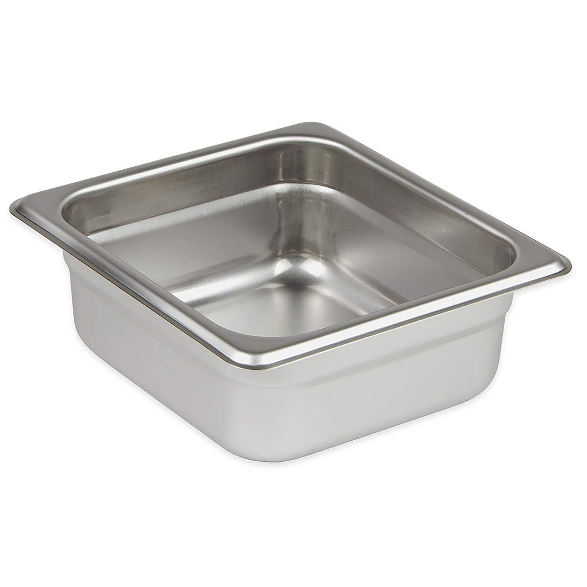 Update International SPH-164 4-Inch Sixth-Size Anti-Jam Steam Table Pan, Silver UPDSPH164