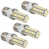 4 LAMPADINE E27 48 LED 5050 SMD BIANCO CALDO AC 220-240V