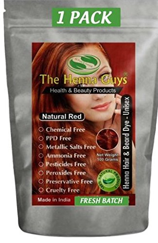 Natural Red Henna Hair Color / Dye 100 Grams - The Henna Guys