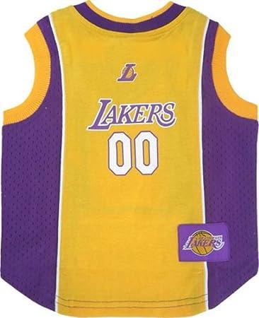 bb065183730 Amazon.com : NBA Pet Mesh Tank Top, Small, LA Lakers : Pet Dresses ...