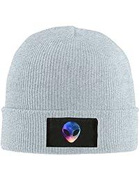 868e6022684 Space Alien Head Colorful Unisex Warm Winter Hat Knit Beanie Skull Cap Cuff Beanie  Hat Winter