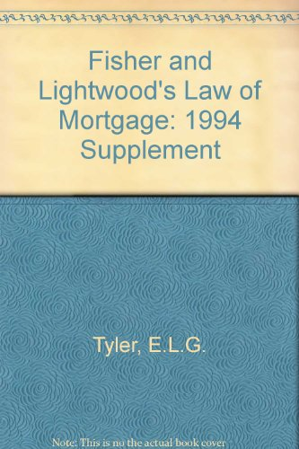 Fisher & Lightwood's law of mortgage