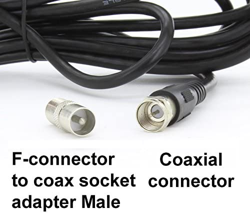 121AV - Antena portátil de alta ganancia para televisión digital, para sintonizar TV por USB, DVB-T y radio DAB; apta para autocaravanas, caravanas, ...