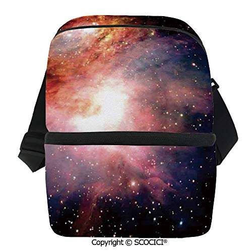 (SCOCICI Collapsible Cooler Bag Space Nebula After Super Nova Celestial Explore The Cosmos in The Universe Print Insulated Soft Lunch Leakproof Cooler Bag for Camping,Picnic,BBQ)