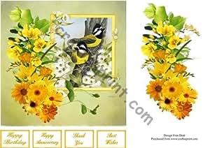 Una foto en color amarillo rápido Tarjeta por Frances Dent