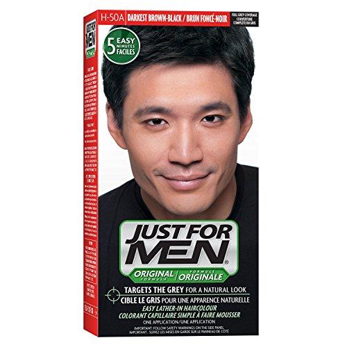 Just For Men Original Formula Men's Hair Color, Real Darkest - Color And Brown Black