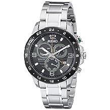 Jiusko Mens Multifunction Silver-Tone Stainless Steel Watch