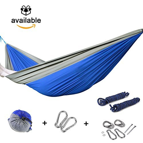 Camping Hammock Persons Blue Grey product image
