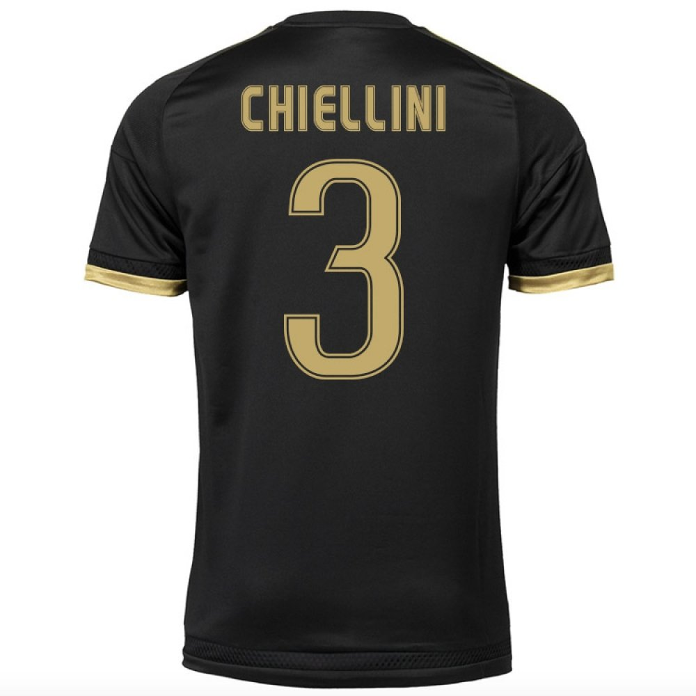 2015-16 Juventus Third Shirt (Chiellini 3) Kids B077VC76LDBlack Small Boys 26-28\