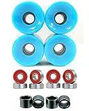 Everland 60mm Wheels w/ Bearings & Spacers (Baby Blue)