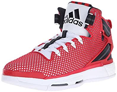 adidas Performance Men's D Rose 6 Boost Basketball,White/Scarlet/Black,8 M US
