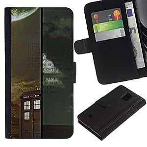 YiPhone /// Tirón de la caja Cartera de cuero con ranuras para tarjetas - Médico Retro Vintage stand - Samsung Galaxy S5 Mini, SM-G800
