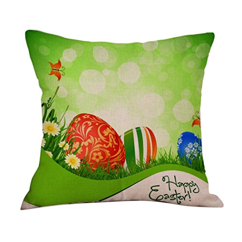 2017 Easter's Day Pillow Case,Elevin(TM)New Painting Square Cotton Cushion Cover Throw Waist Pillow Case Sofa Bedroom Home Decor Good Easter's Gift (M) (A)