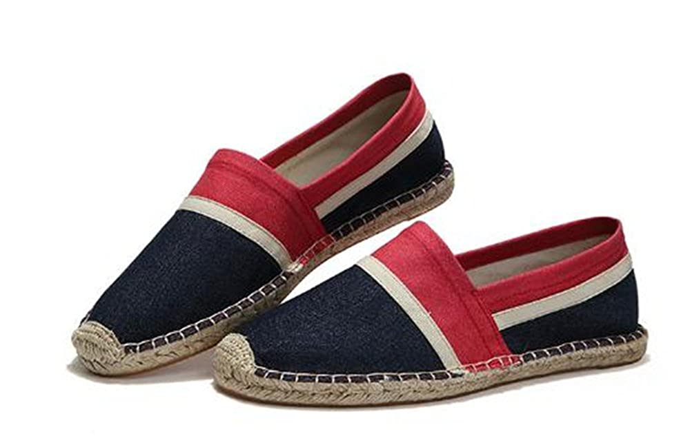 Mens Colorful Breathable Walking Outdoor House Flat Linen Shoes MIKA HOM Walking Slippers