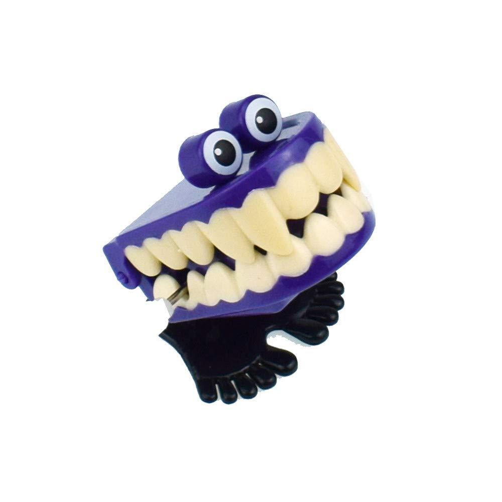 Siaokim ノベルティトイ 子供用 時計仕掛け式 吸血鬼 歯 バウンス 教育玩具 男の子 誕生日ギフト 5x4.5cm マルチカラー 100504  パープル B07JB8Q2HJ