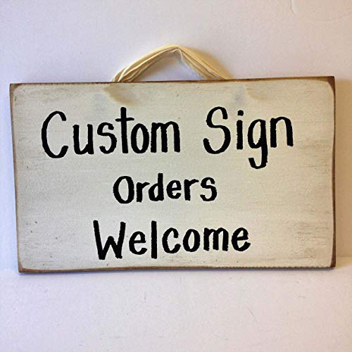 Custom sign wood personalized ()