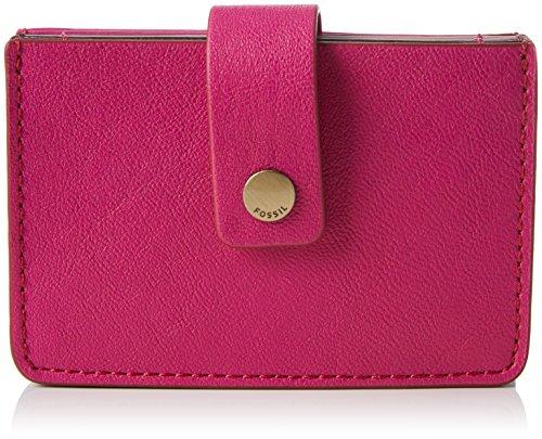 Fossil Mini Tab, Women's Wallet, Pink (Hot Pink), 1.91x6.68x10.16 cm (B x H T) ()