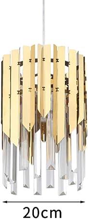 Small round gold crystal led modern chandelier lighting for kitchen dining room bedroom bedside light luxury k9 pendant lamps