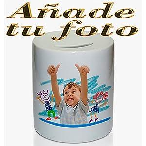 OyC Hucha Personalizada, con Foto, Regalo Original, cerámica, económico, Ahorrar 18