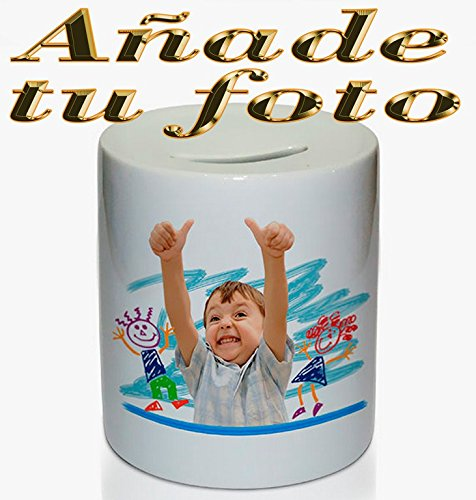 OyC Hucha Personalizada, con Foto, Regalo Original, cerámica, económico, Ahorrar 2