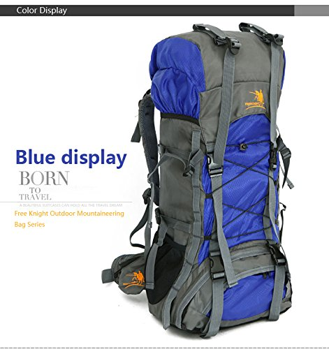 Free Knight SA008 60L Hiking Camping Backpack Outdoor Waterproof Daypack (Dark Blue) by Free Knight