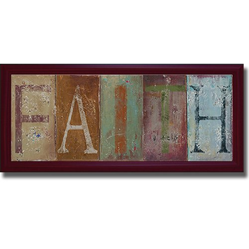 Faith by Patricia Pinto Premium Mahogany-Framed Canvas (Ready-to-Hang) by Artistic Home Gallery