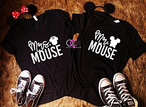 6d928c9eaf Amazon.com: Couples Disney Shirts, Mr. Mrs. Mouse, Mr. and Mrs. Shirts, Matching  Couple Shirts - T-Shirt: Handmade