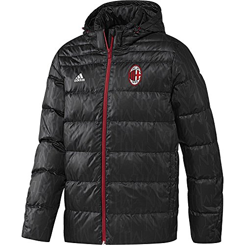 Adidas Men's AY2527 AC Milan Down Jacket (Black, Small) by adidas