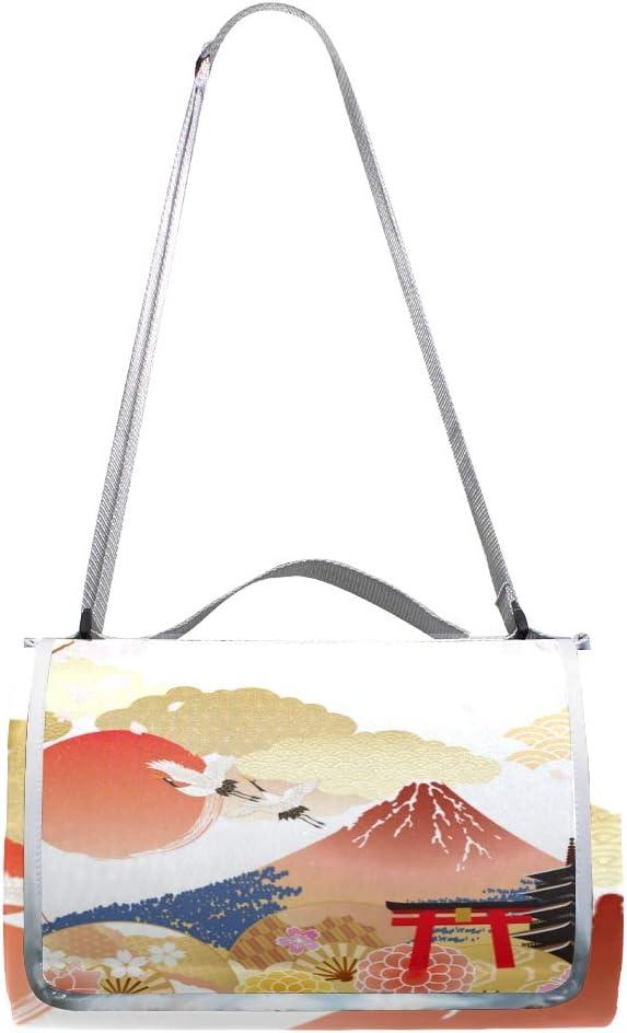 GEEVOSUN Coperta da Picnic Tappetino Campeggio,Immagine Cane Occhiali Cuffie Cappello Hiphop,Giardino Spiaggia Impermeabile Anti Sabbia 9