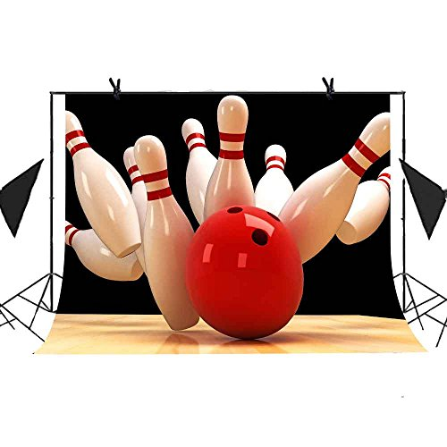 Bowling Backdrop MEETSIOY 7x5ft Abstract Photography Background Themed Party Photo Booth YouTube Backdrop MT434