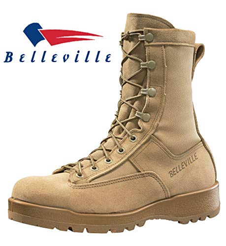 Belleville New Made in US 790 G GI Desert Tan Military Army Combat Waterproof Goretex Temperate Flight Boots (9.5 -