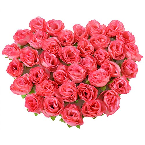 Amazon Red Rose Petals Silk Flowers 50pcs Mini Rose Flower