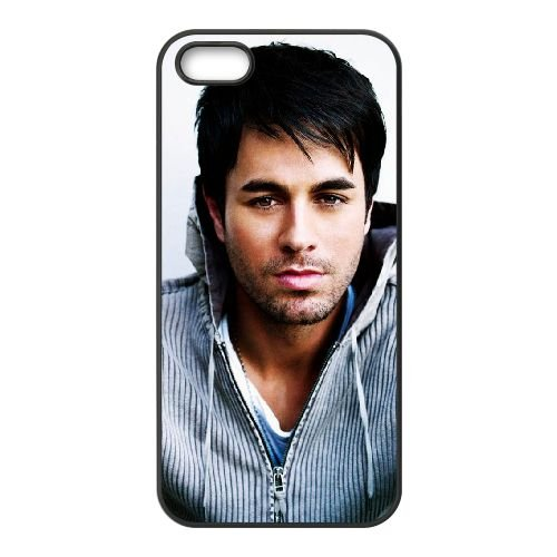 Enrique Iglesias 002 2 coque iPhone 5 5S cellulaire cas coque de téléphone cas téléphone cellulaire noir couvercle EOKXLLNCD23562