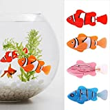 Katoot@ 5pcs Funny Swim Electronic Robofish Battery Powered Robot Toy fish Pet for Fishing Tank Decorating Fish