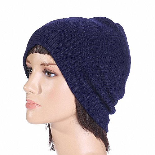 Maoko Daily Beanie Warm/ Long Knit Skull Cap for Cold Weather MK074 (Women Knitted Uggs)