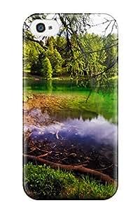 Awesome TCnUASe927KaJzc CharlesRaymondBaylor Defender Tpu Hard Case Cover For Iphone 4/4s- Green Lake
