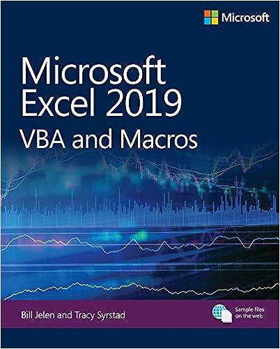Amazon com: Microsoft Excel 2019 VBA and Macros (Business