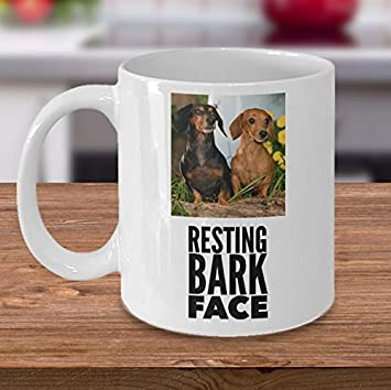 Amazon Com Resting Bark Face Mug Funny Dog Pun Photo Mug Customize