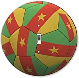 Rikki Knight RND-LSPS-75 Cameroon Team World Cup Flag Soccer Ball Football Round - Single Toggle Light Switch Plate