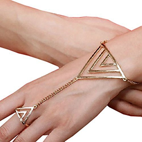 Suyi Crystal Bracelet Harness Gold triangle