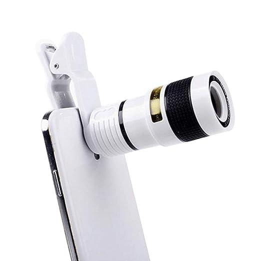 PLMO La cámara del teléfono móvil 8X Lente telescópica Externa ...